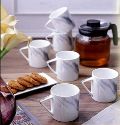 Sanjeev Kapoor Slate Ceramic Coffee Mug Set, 6-Pieces