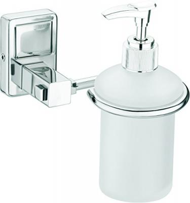 Primax Platinum Stainless Steel 304 Grade Darcy Liquid Soap Dispenser - Shampoo Dispenser - Bathroom Accessories, Silver