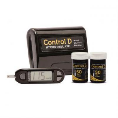 Control D Meter Kit with 50 Strips & Glucometer