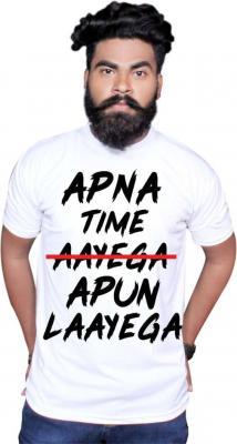 Typography Men & Women Round Neck White T-Shirt