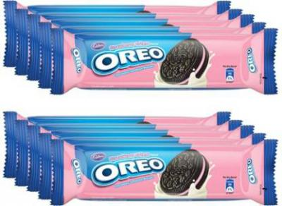 Oreo Strawberry Creme Biscuits  (1.2 kg, Pack of 10)