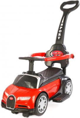 Toy House Foot to Floor Bugatti Push Car with Removable Push Handle for Kids (1 to 3Yrs), Red