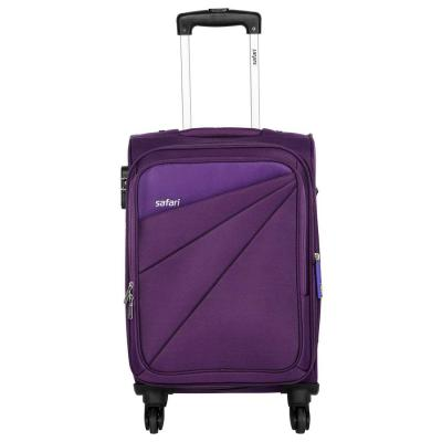 Safari Mimik 78 Cms Polyester Purple Check-In 4 wheels Hard Suitcase
