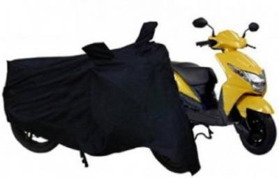 Biker World Two Wheeler Cover for Mahindra  (Rodeo RZ, Black)