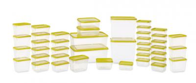 All Time Polka Plastic Container Set, 42-Pieces