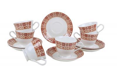 BP Bharat NGR Magic Bone China Mug and Saucer Set, 12-Pieces