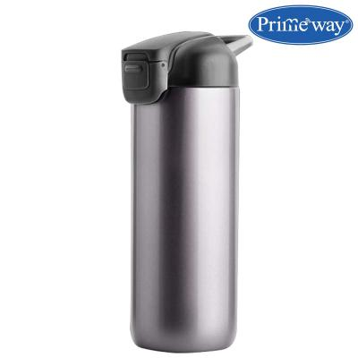 Primeway® Stainless Steel Suction Multipurpose Travel Bottle That Won't Fall Over, 450ml, Grey