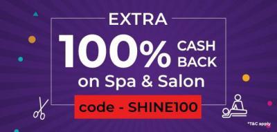 Extra 100% Cashback on Spa & Saloon on Little App