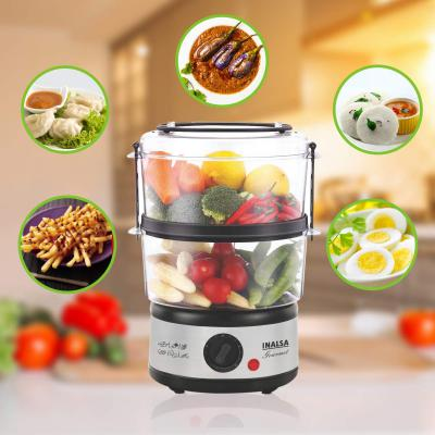 Inalsa 5L Gourmet Multi-Function 500W-Food Steamer & Egg Boiler