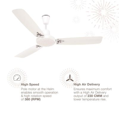Luminous Rio Novo 1200mm Ceiling Fan (Chirsto White)