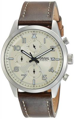 Fossil Chronograph Off-White Dial Men's Watch - FS5138I