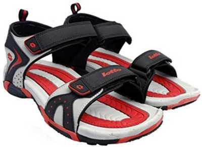 Lotto Tore Men Black, Grey Sports Sandals