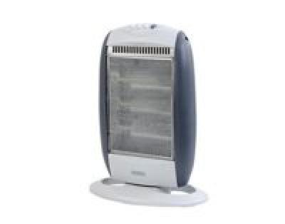 Usha Halogen Heater (3303-ISI) 1200-Watt with Oscillation Function (White)