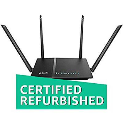 D-Link DIR-825 AC 1200 Wi-Fi Dual-Band Gigabit (LAN/WAN) Router (Renewed)