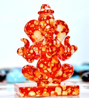 Craftfry Ganesha Idol for Gift Double face Ganesha in Temple Decorative Showpiece