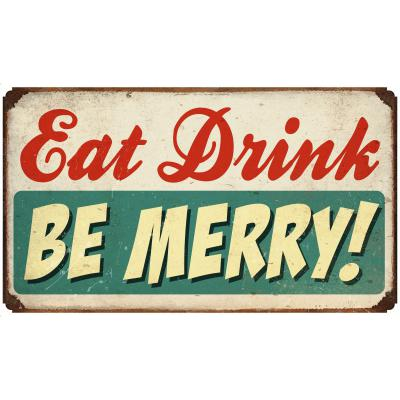 Sehaz Artworks 'Be Merry' Wall Sign (Wooden, 30 cm x 20 cm x 0.3 cm)