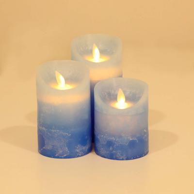 Forzza FO-LD007-c Taurus Flameless Pillar Candle (Pack of 3)