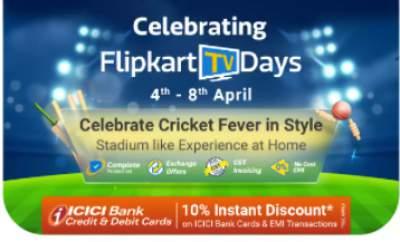 Flipkart Tv Days: Extra 10% off on Online Payments