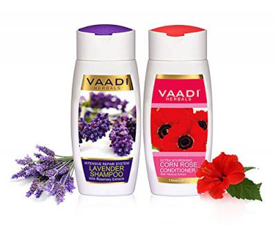 Vaadi Herbals Lavender Shampoo, 110ml with Corn Rose Conditioner, 110ml