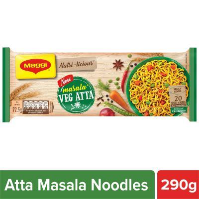 MAGGI Nutri-Licious Masala Veg Atta Noodles, 290g Pouch