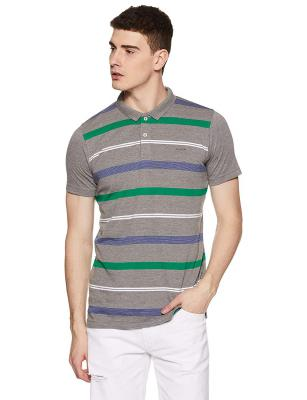 Proline Men Striped Regular Fit Polo