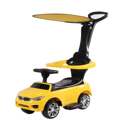 Toy House Benzy Push Car with Long and Strong Push Handle for Kids (2 to 6Yrs), Yellow