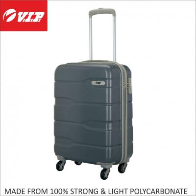 VIP Polycarbonate 55 cms Grey Hardsided Cabin Luggage (FERACT55CPG)