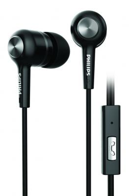 Philips SHE1505BK/94 Upbeat Earphones with Mic