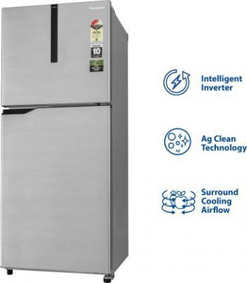 Panasonic 268 L Frost Free Double Door 3 Star Refrigerator  (Shining Silver, NR-FBG27VSS3)