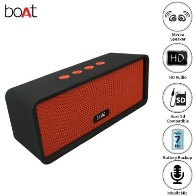 boAt Stone BriXX Dynamic 8W Speaker with Bluetooth/Aux/SD Mode and Dual Tone Finish