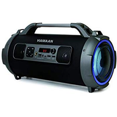 Hamaan Portable Wireless 5-in-1 Speaker (Flash Box) with FM Radio/3600mAh Battery/RGB Light/USB/AUX-in/Micro SD
