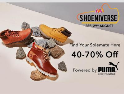 Myntra Shoeniverse: Up to 70% Off on Top Brands