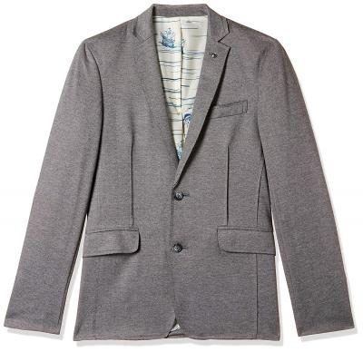 Jack & Jones Men& Regular Fit Blazer (1947402005_Charcoal Grey_52)