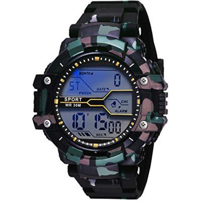 Axe Style X-1253 Digital Blue Dial Military Multi-Color Strap Watch