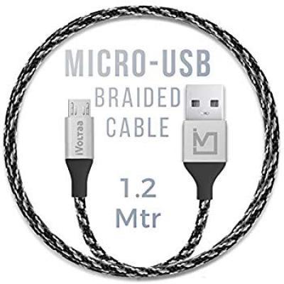 iVoltaa Pixie Micro USB to USB 2.0 Braided Cable