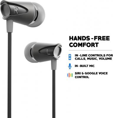 Boult Audio BassBuds Storm Wired Headset with Mic