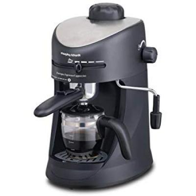 Morphy Richards New Europa 800-Watt Espresso and Cappuccino 4-Cup Coffee Maker