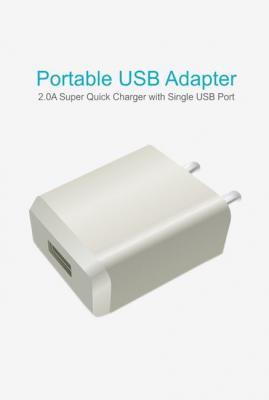 Portronics POR 898 2.0A Portable USB Adapter (White)