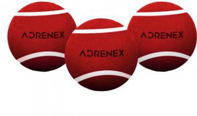 Adrenex by Flipkart Heavy Cricket Tennis Ball  (Pack of 3, Red)