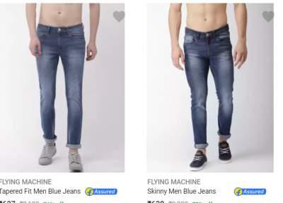 Top Branded Jeans { Lee, Flying Machine, Wrangler, Peter England }