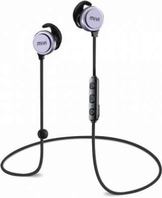 Mivi Thunder Beats Bluetooth Headset with Mic (Gun metal/Black, In the Ear)