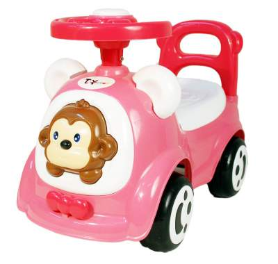 Toy House Happy Jagoo Funky Push Car( Blue, THROP008B)