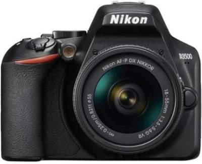 Nikon D3500 DSLR Camera AF-P DX NIKKOR 18-55mm f/3.5-5.6G VR  (Black)