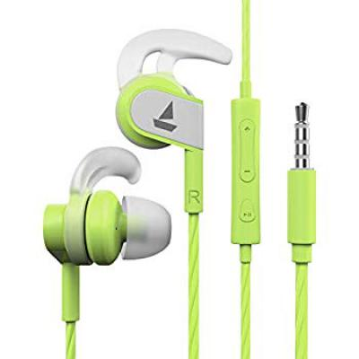 Boat Bassheads 242 Wired Sports Earphones with HD Sound, 10 mm Dynamic Drivers, IPX 4 Sweat and Water Resistance, Superi