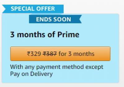 Prime membership for 3 months