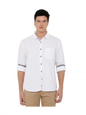 CAVALLO by Linen Club White Linen Shirt