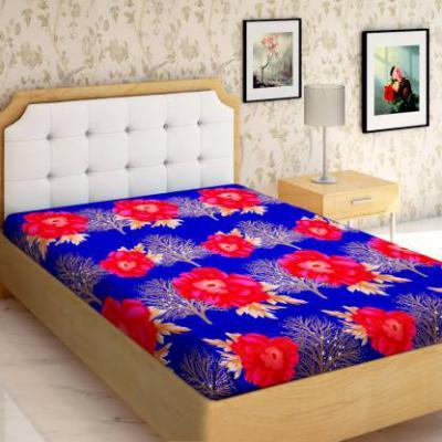 IWS 144 TC Microfiber Single Floral Bedsheet  (Pack of 1, Multicolor)