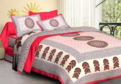 Upto 80% Off on Keeha 120 TC Cotton Double King Printed Bedsheet
