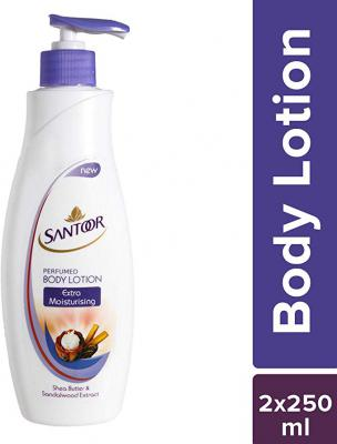 Santoor Extra Moisturising Body Lotion, 250ml (Pack of 2)