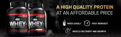 Optimum Nutrition (ON) 100% Whey Protein Powder - 4.5 lbs (Chocolate Milkshake)